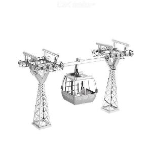 DIY 3D Tourist Cable Car Metal Model Building Kit Puzzle Toy for Kids Children