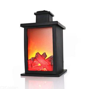 LED Flame Effect Light Warm Indoor Fire Decorative Table Lamp For Christmas New Year Holidays