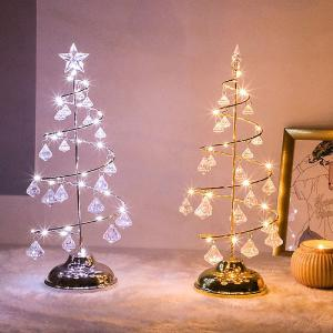 Christmas Tree Light LED Crystal Table Lamp For Holiday Home Decoration