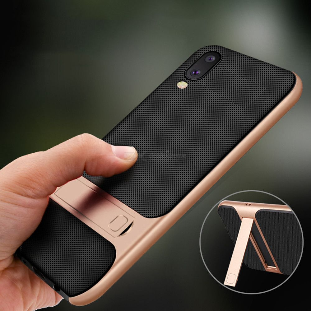 Naxtop 2 in 1 Soft TPU Hard PC Phone Case with Invisible Bracket For Samsung Galaxy M10 / A70s /  A50s /  A30s