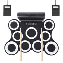 Electronic-Drum-Set-Portable-Roll-Up-Drum-Practice-Pad-For-Kids-Teens