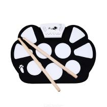 Electronic-Drum-Set-USB-Roll-Up-Drum-Practice-Pad-Kit-For-Kids-Teens-Adults