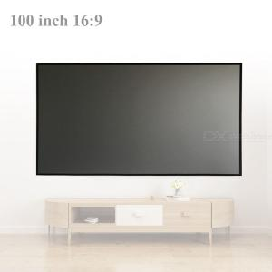 High Brightness Reflective Projector Screen 100 inch 16:9 Fabric Cloth Projector Screen for Epson BenQ XGIMI Home Beamer
