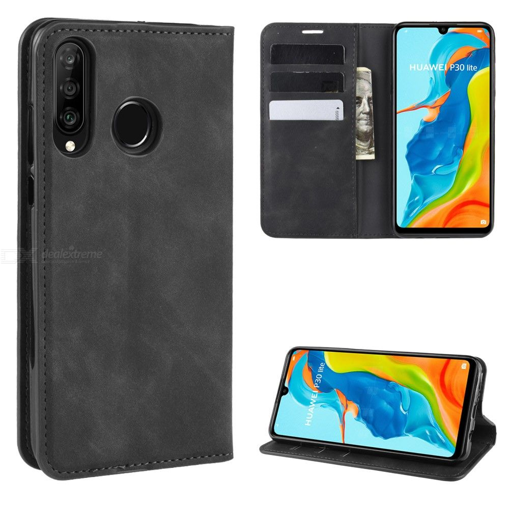 CHUMDIY PU Leather Wallet Case with Magnetic Closure for Huawei P30 Lite / Nova 4e