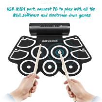 Electronic-Drum-MD760-Foldable-Digital-USB-Drum-Kit-Delicate-Portable-For-Prenatal-Educational-Professional-Learning-Gift