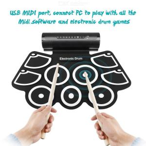 Electronic Drum MD760 Foldable Digital USB Drum Kit Delicate Portable For Prenatal Educational Professional Learning Gift