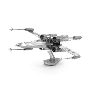 DIY 3D X-wing Fighter Metal Model Building Kit Puzzle Education Metal Model Toy for Kids