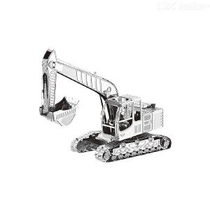 DIY 3D Metal Excavator Model Building Kit for Kids Puzzle Education Metal Model Toy