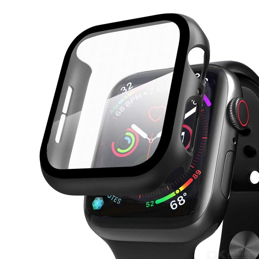 Full Scratchproof Case with Tempered Glass Screen Protector for Apple Watch 5/4/3/2/1