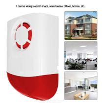 Outdoor Wireless Strobe Siren, Flash Siren with Sound and Light for GSM Security, pstn 120dB Burglar Alarm System EU Charger