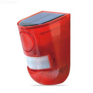 Solar Strobe Light Solar Alarm Light With Motion Detector And Loud Siren