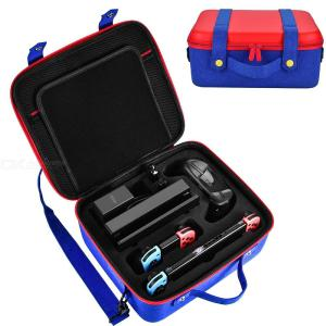 Travel Carrying Case for Nintendo Switch System,Cute and Deluxe, Protective Hard Shell Carry Bag for Nintendo Switch