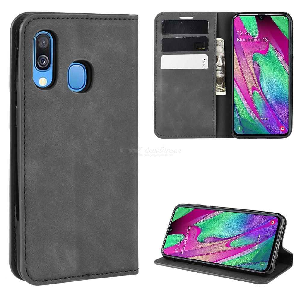 CHUMDIY PU Leather Case with Kickstand / Card Slot / Magnetic Closure for Samsung Galaxy A40 фото