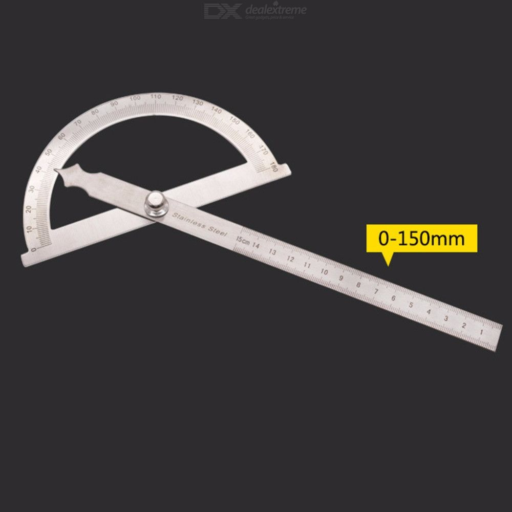 Dx coupon: 0-180 Degree 15cm Stainless Steel Protractor Angle Ruler