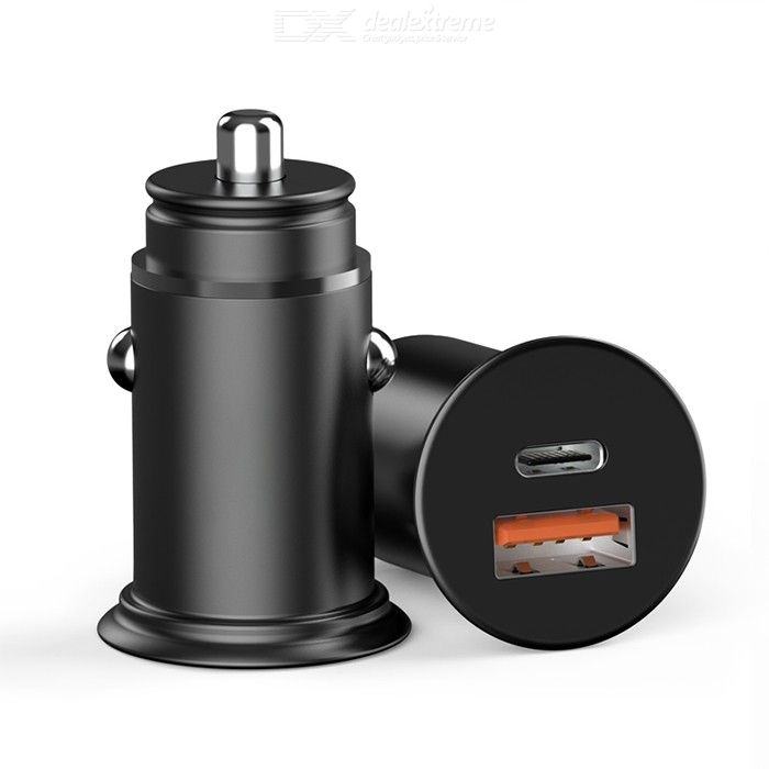 Car Charger 5V/5A PD 30W Car Charging Adapter With USB Type C Ports
