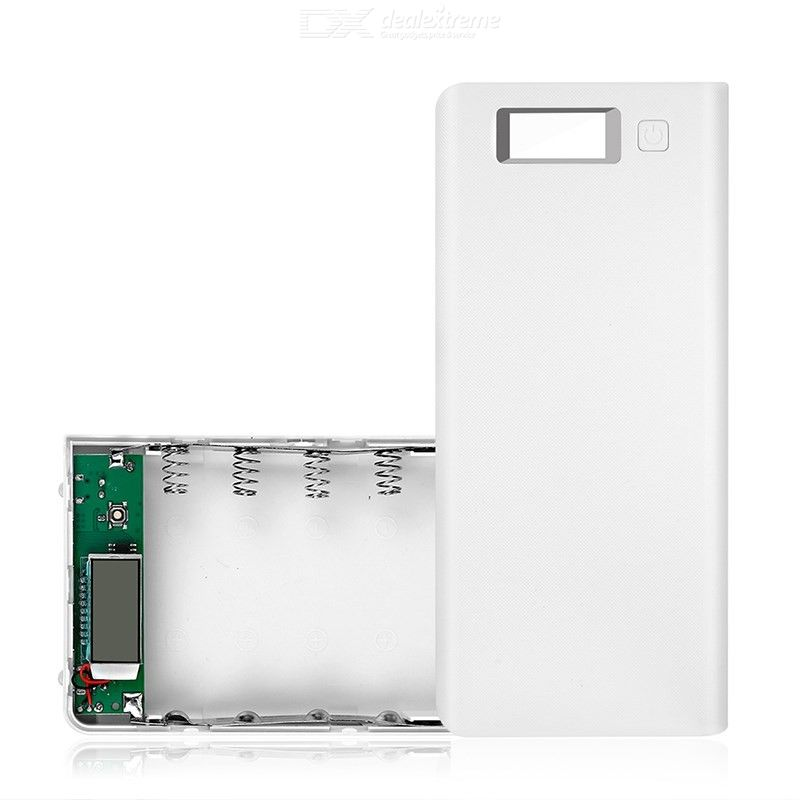 8-Slot Sold-Free Mobile Power Shell, 18650 Battery Box Circuit Board Power Bank DIY Sleeve (No Battery)