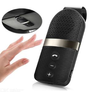 E09 Bluetooth Car Kit, Handsfree Noise Cancelling Bluetooth Receiver Car Speakerphone Multipoint Clip Sun Visor For Two Phone
