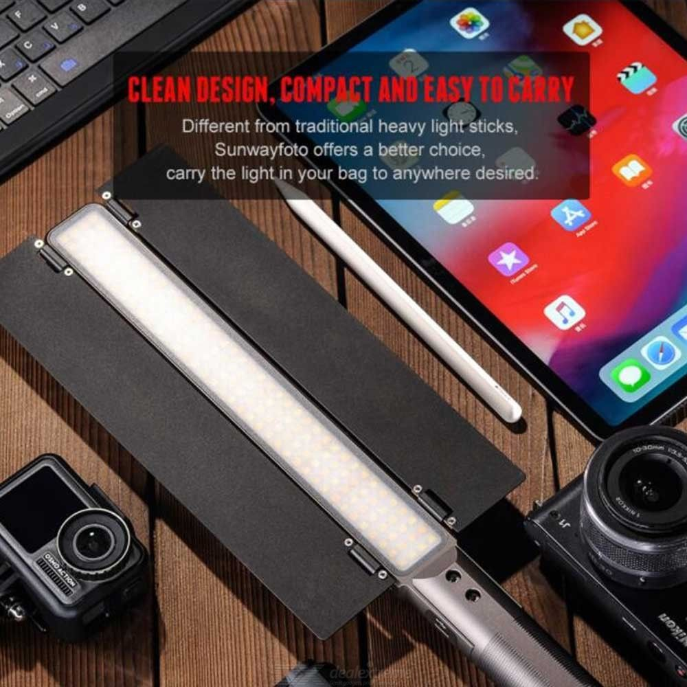 SUNWAYFOTO FL-152 LED Video Light Stick, Adjustable Cold White and Warm White Light