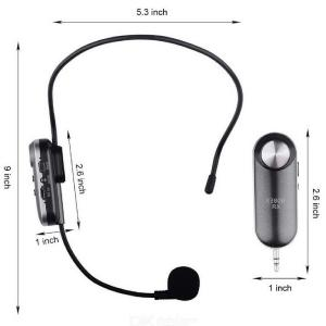 K380R Wireless Microphone Headset UHF Transmitter and Receiver Fitness Trainer / Public Speaking / Conference / Church, Supports