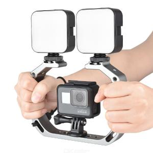 YELANGU A63 Aluminum Alloy Micro Film Making kit Video Cage Diving Rig with Mount Adapter for Gopro