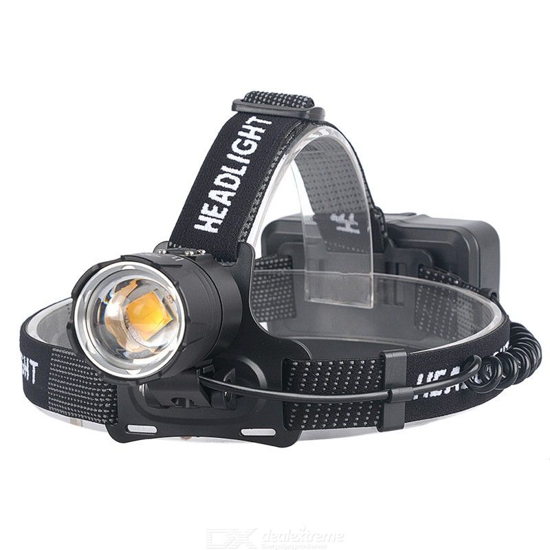 T130H XHP70.2 USB Charging Headlight Outdoor Power Display LED Zoom Headlamp