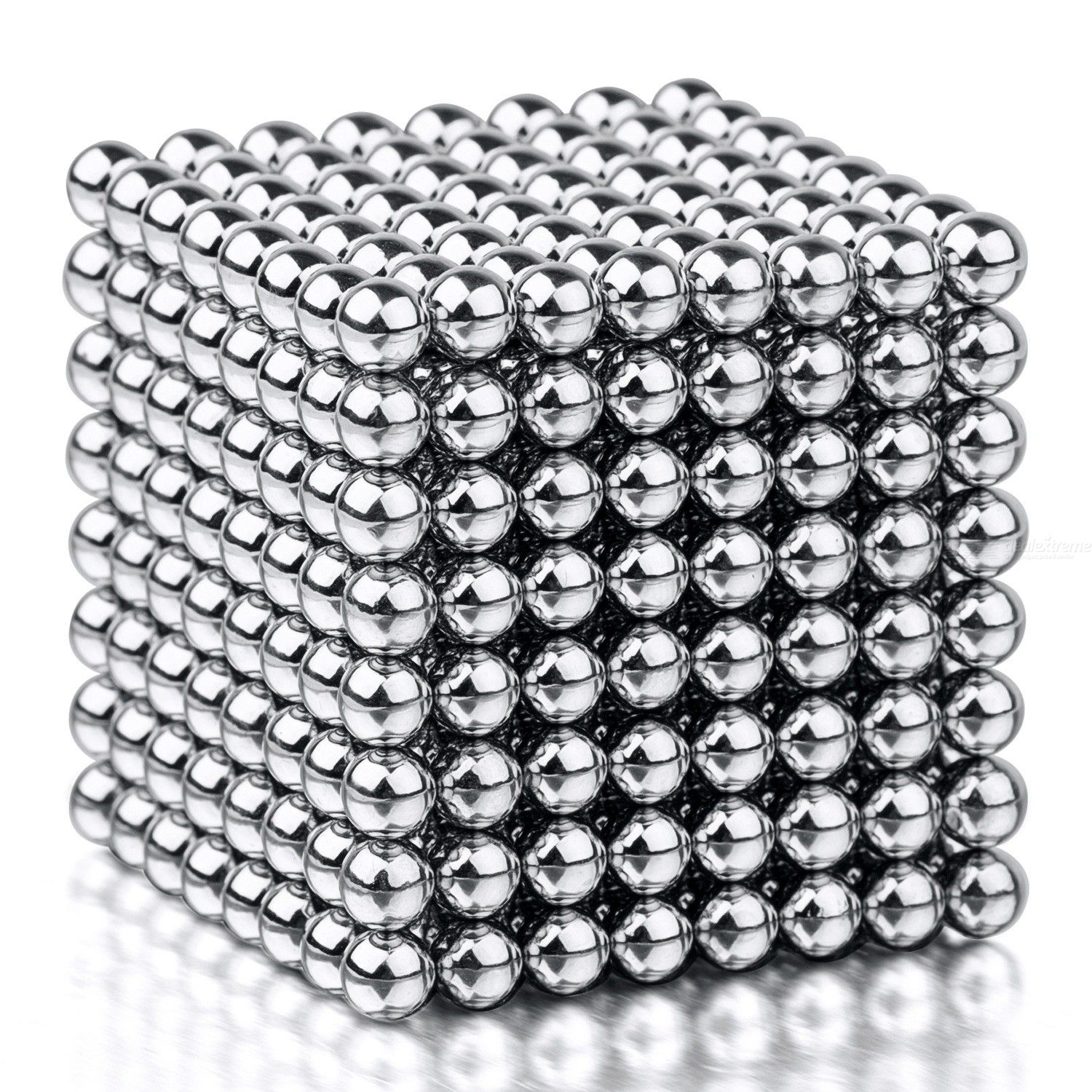 512PCS Silver Magnetic Ball Building Block Creative Magnet Toy Puzzle, 5mm Office Decoration Balls