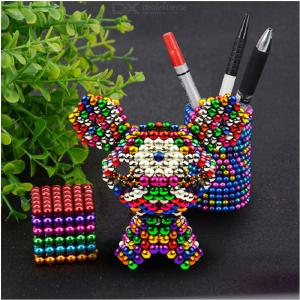 512PCS Colorful Magnetic Ball Building Blocks Creative Magnet Toy Puzzle 5mm Office Decoration Balls