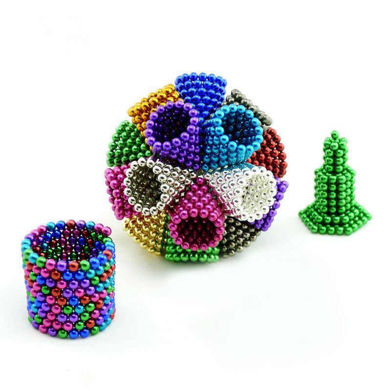 125PCS 5mm Magnetic Puzzle Ball Creative Magnets Building Block Educational Toy фото