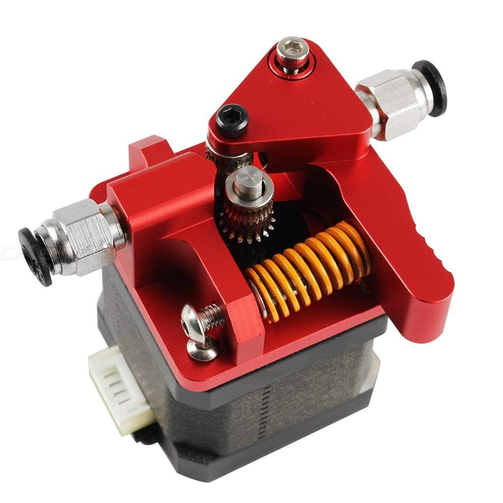 Upgraded Replacement CR-10S Pro Extruder Dual Drive Gear Aluminum Extruder Kit Drive Feed for 3D Printer Creality CR-10, CR-10S