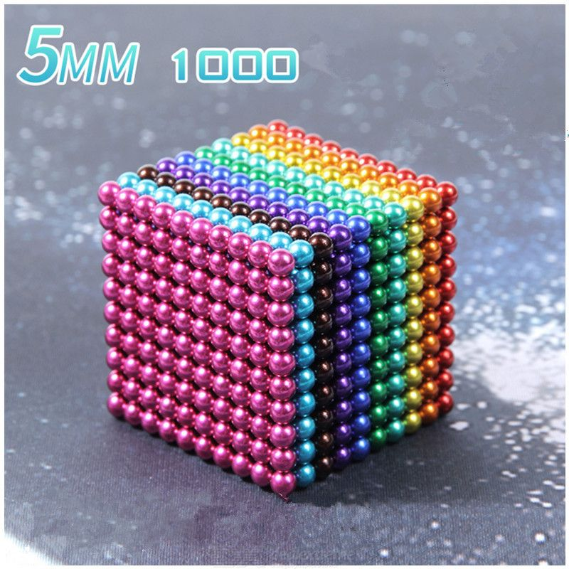 1000PCS 5mm Magnetic Ball Building Block Creative Magnet Toy Puzzle Balls – Multi-color