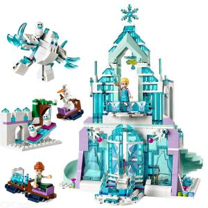 SX3016 731PCS Snow World Series Het Elsas Magical Ice Castle Set Girls Building Blocks Bricks Toy