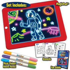 3D Magic Drawing Pad LED Light Luminous Board Intellectual Developmen Toy, Children Painting Learning Tool