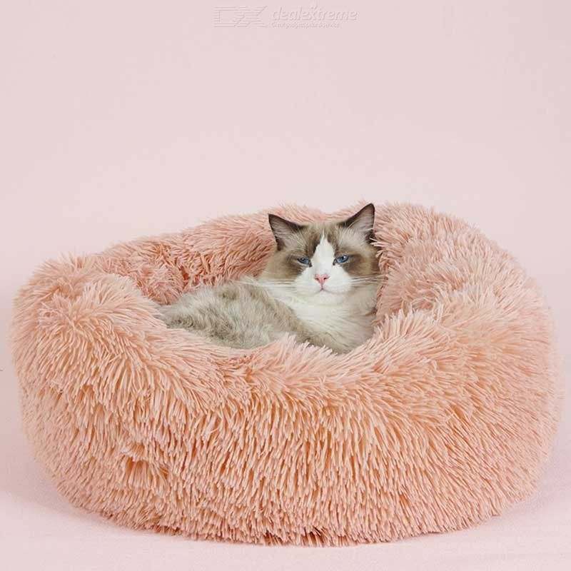 Fluffy Pet Bed Modern Soft Plush Cushion For Dogs Cats