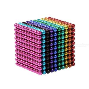 1000PCS 5mm Magnetic Ball Building Block Creative Magnet Toy Puzzle Balls Multi-color