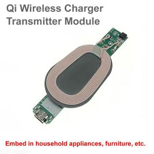 Cwxuan 10W Qi Wireless Charger PCBA Circuit Board Coil Module, DIY Fast Charging Pad Charger Module for Mobile Phone