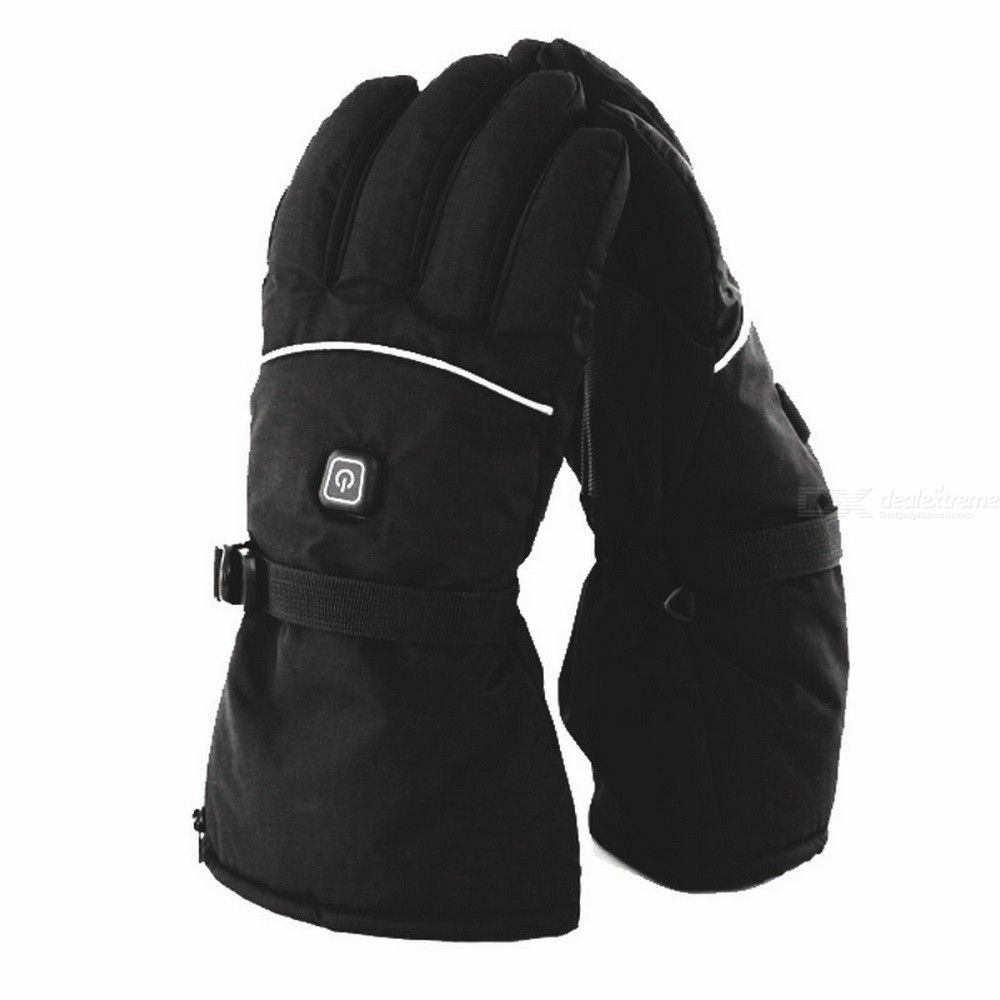 1 Pair Winter Electric Heated Thermal Gloves With 3 Levels Temperature Control For Outdoor