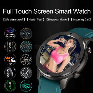 1.3 Inch Round Color Screen Smart Watch IP68 Waterproof Wristwatch Blood Pressure Heart Rate Monitor For Android IOS