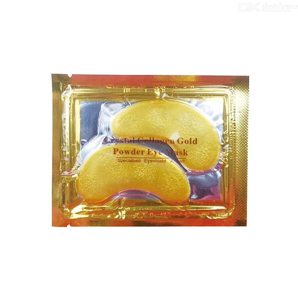 10 Pairs Gold Eye Masks, Anti-Puffiness Collagen Under Eye Patches Treatment For Dark Circles Eye Bags