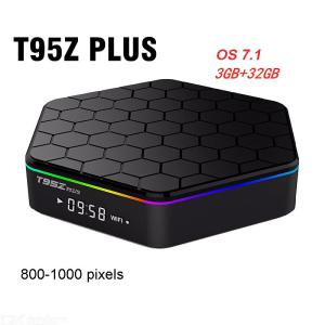 T95Z Plus S912 Android 7.1 Dual WiFi 4K Smart TV Box Media Player With 3GB RAM 32GB ROM