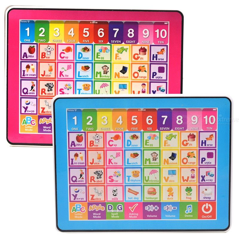 Toddler Learning Tablet Educational Preschool Toy For Number ABCs Learning Spelling Melodies