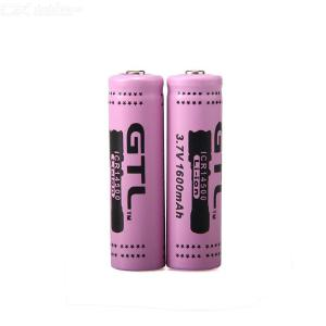 2PCS GTL 3.7V 14500 Battery Rechargeable Large Capacity Lithium Ion Battery for Flashlight / Headlight