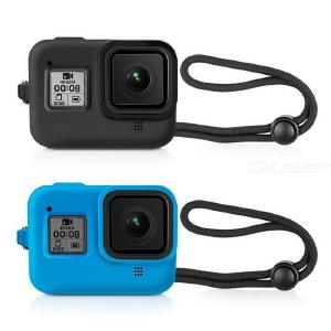 Silicone Sleeve Cases And Lanyard Strap For GoPro Hero 8 Camera Protective Protective Cover Lanyard Accesories