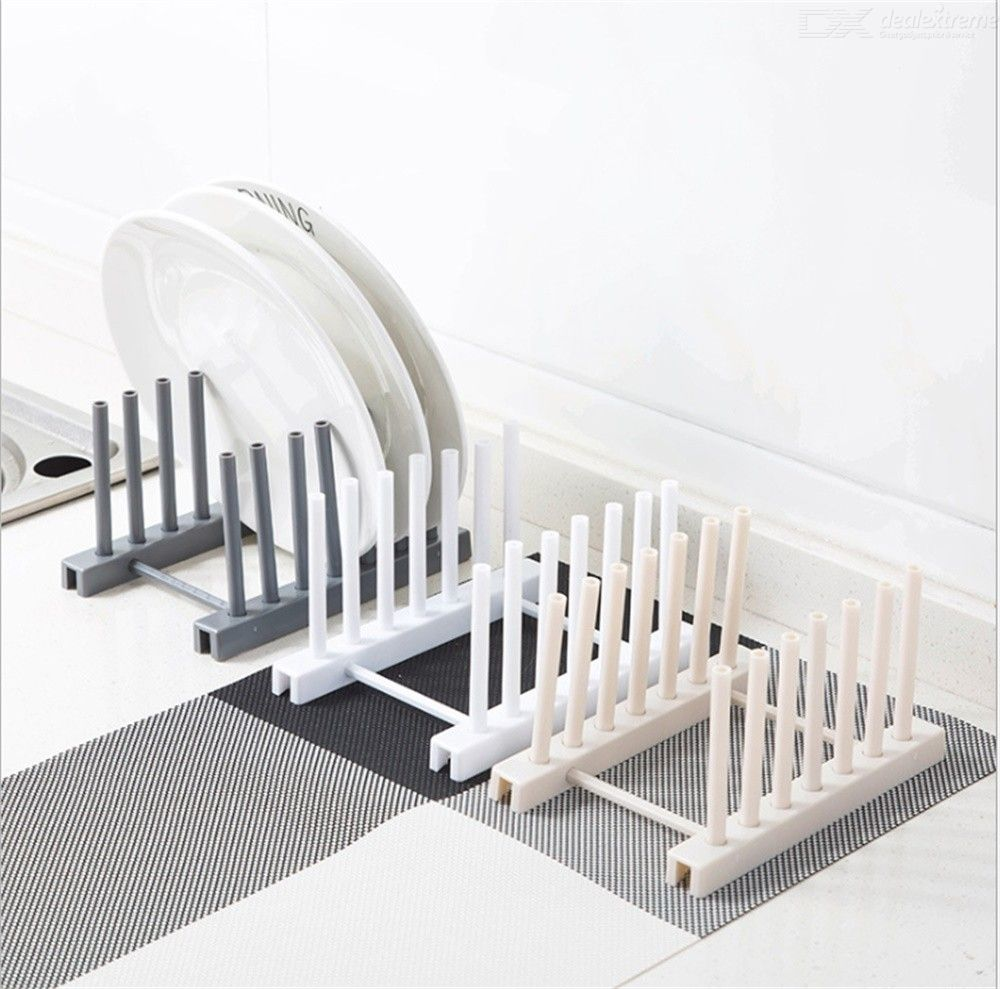Kitchen Dish Dryer Rack For Tray Plate Cups Bottles Drying Plastic Stand Holder