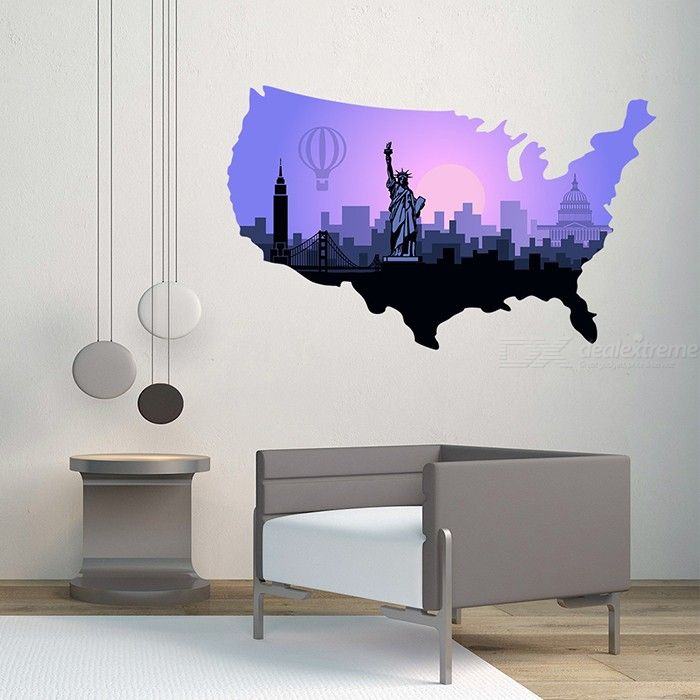 3D Statue Of Liberty PVC Wall Sticker Removable Decorative Wall Art Decals Home Decor For Living Room Bedroom
