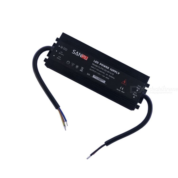 Dx coupon: ZHAOYAO IP67 Waterproof 120W Ultra-thin LED Power Supply (Input 100-240V, Output DC 12V)