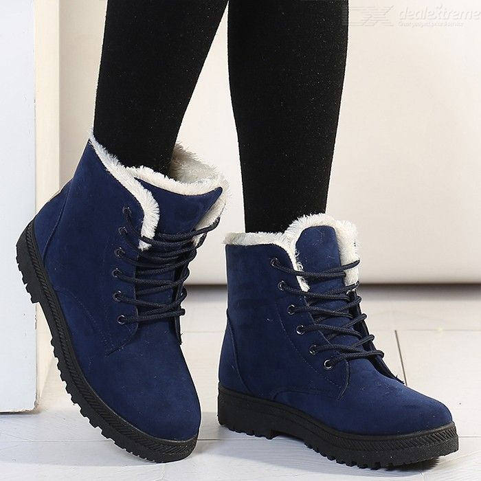Womens Fluffy Ankle Boots Winter Warm Plush Boots