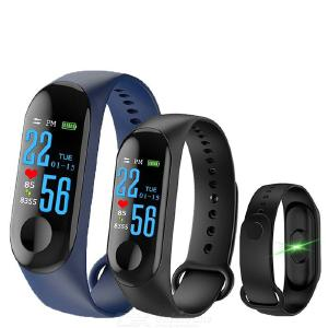 M3 Color Screen Smart Wristband Waterproof Blood Pressure Heart Rate Monitor Intelligent Sports Bracelet