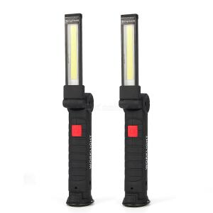 2PCS W52 USB Charging Work Light, Dimmable COB Car Inspection Light Magnetic Rotary LED Flashlight with Built-in 18650 Battery
