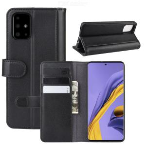 CHUMDIY Genuine Leather Phone Wallet Case with Card Pocket for Samsung Galaxy A51