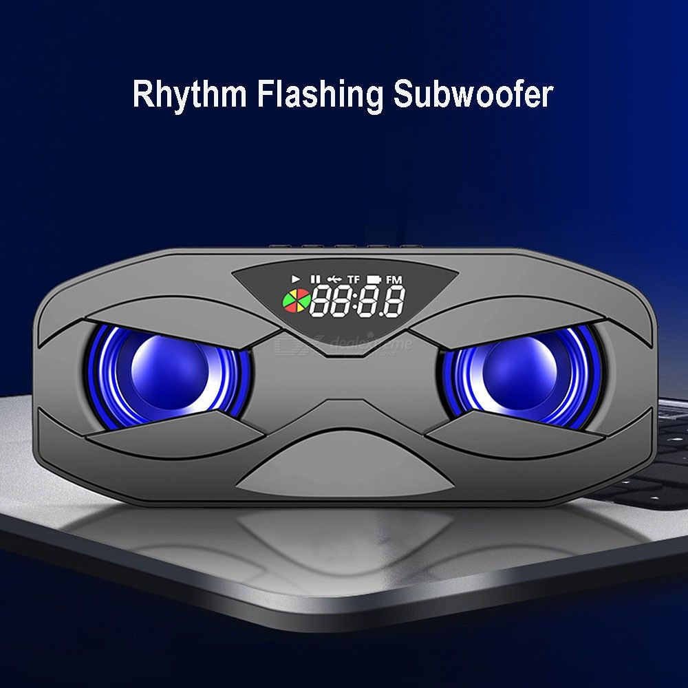 M5 Wireless Bluetooth Speaker LED Display FM Radio USB Rechareable BT5.0 Subwoofer Loudspeaker